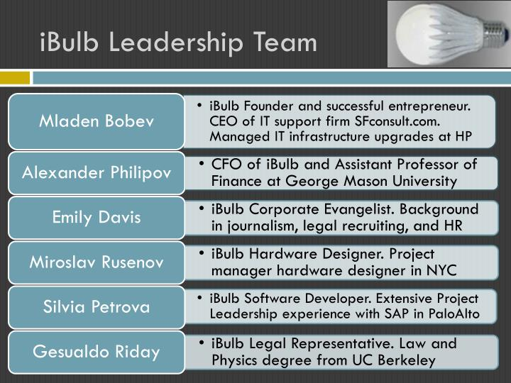 iBulb Leadership Team