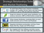 strategic relationships sales and market positioning