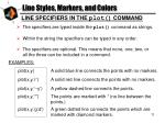 line styles markers and colors3