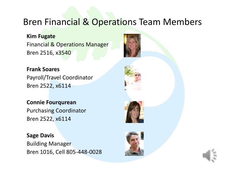 Bren Financial & Operations Team Members