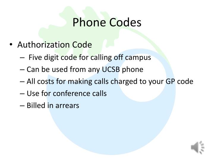 Phone Codes