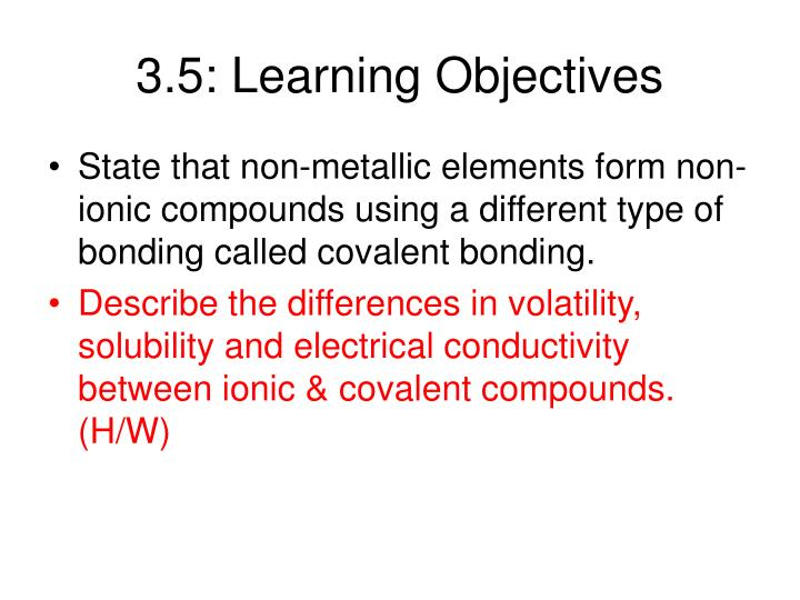 3.5: Learning Objectives