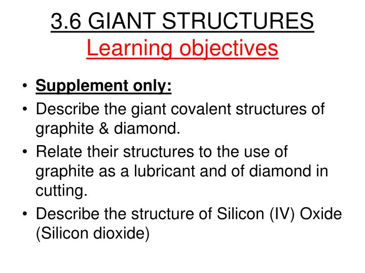 3.6 GIANT STRUCTURES