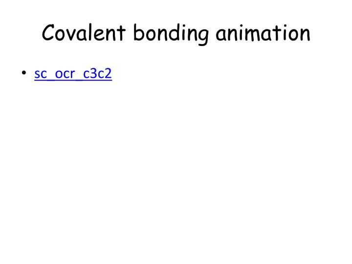 Covalent bonding animation
