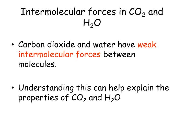 Intermolecular forces in CO