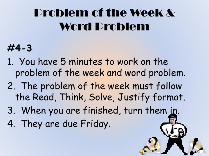 Problem of the Week &