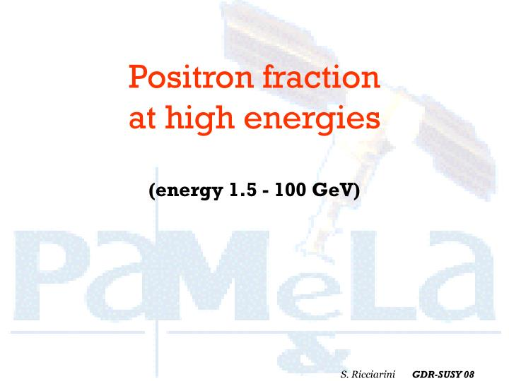 Positron fraction
