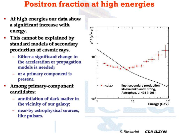 Positron fraction at high energies
