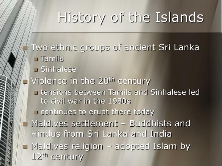 History of the Islands