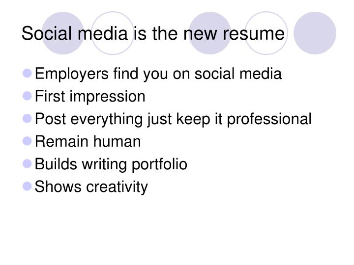 Social media is the new resume