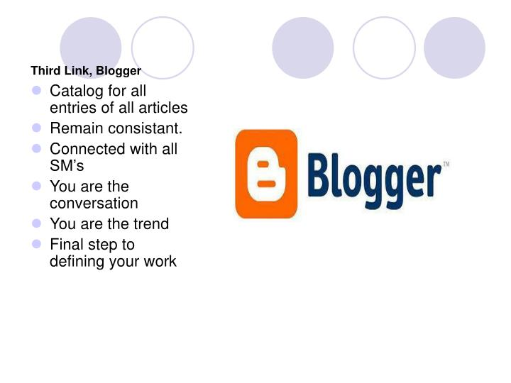 Third Link, Blogger