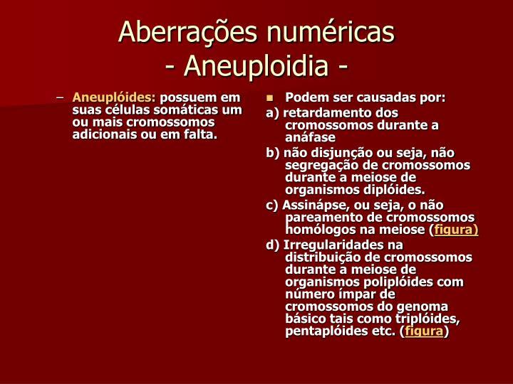 Aneuplóides: