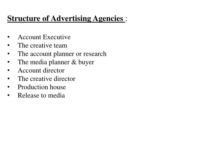 Structure of Advertising Agencies