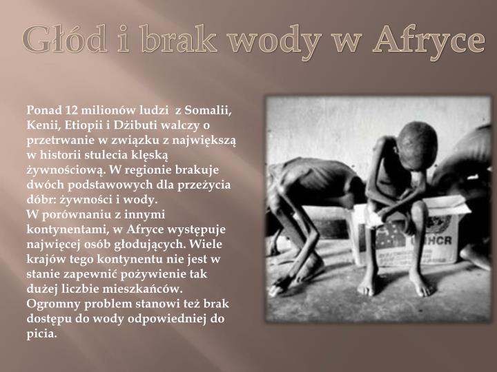 Głód i brak wody w Afryce