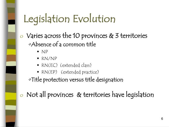 Legislation Evolution