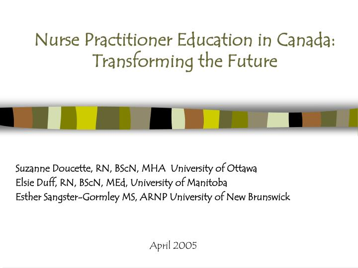 Nurse Practitioner Education in Canada: