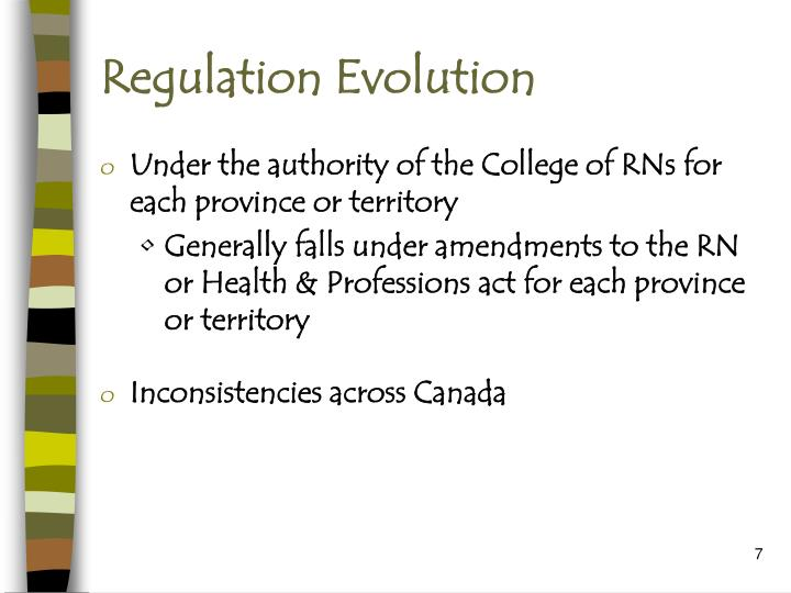 Regulation Evolution