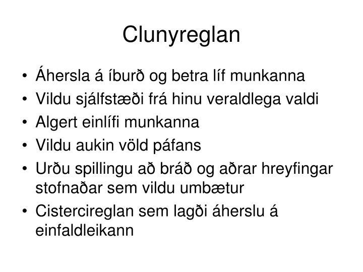 Clunyreglan