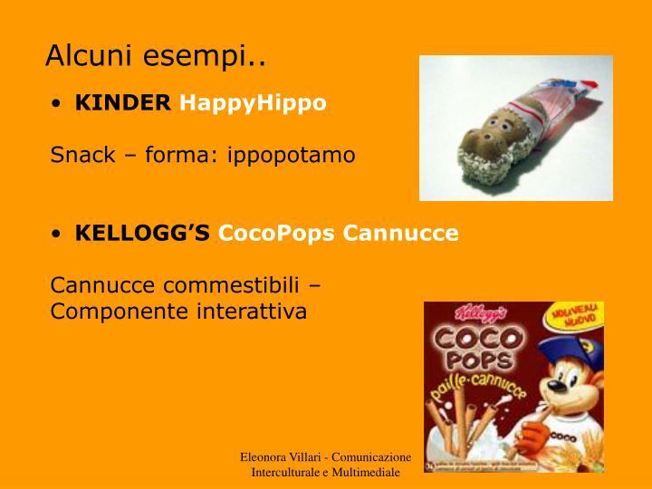 Alcuni esempi..