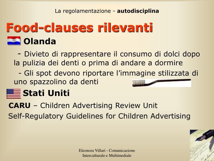 La regolamentazione -