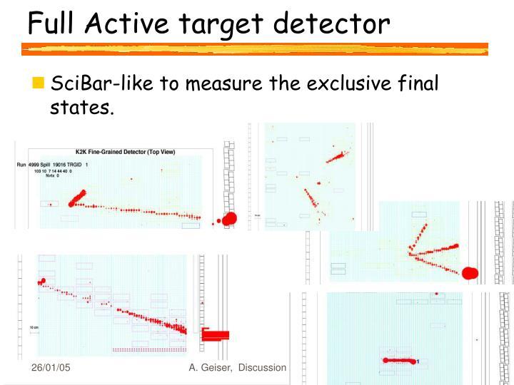 Full Active target detector