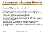 interim agreement on international collaboration