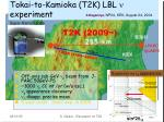 neutrino physics at j parc tokai to kamioka t2k lbl n experiment