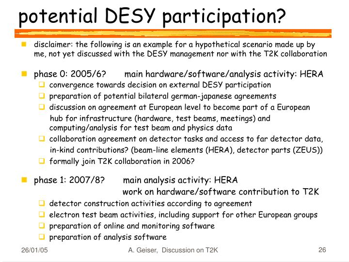potential DESY participation?