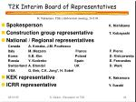 t2k interim board of representatives
