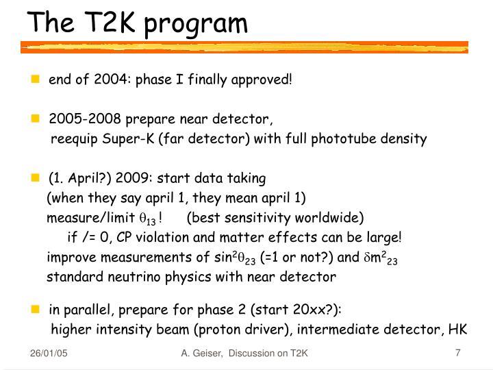 The T2K program