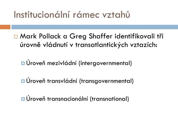 Institucionální rámec vztahů