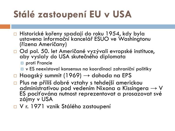 Stálé zastoupení EU vUSA