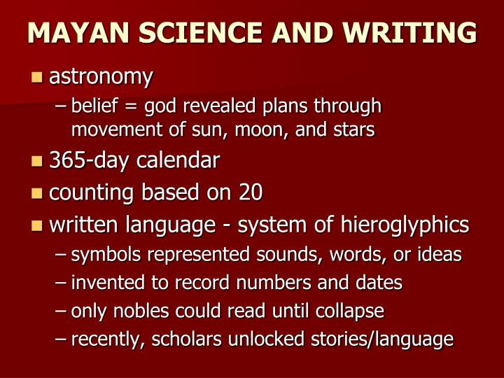 mayan science and astronomy - photo #33