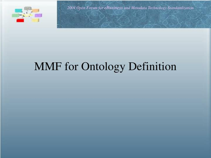 MMF for Ontology Definition