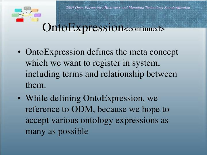 OntoExpression