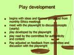 play development