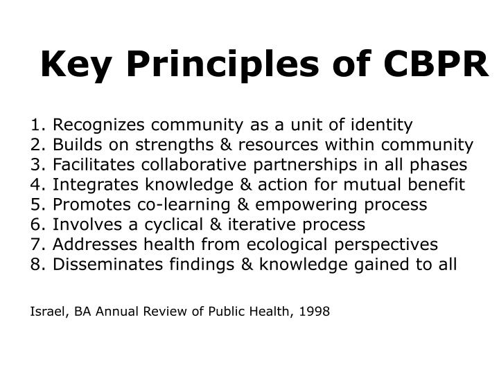 Key Principles of CBPR