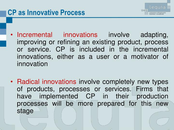 CP as Innovative Process