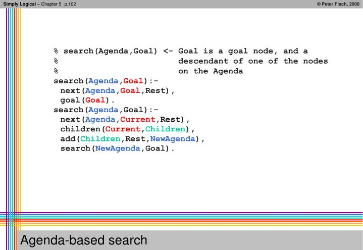 Agenda based search