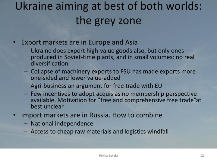 Ukraine aiming at best of both worlds: the grey zone