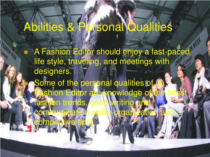 Abilities personal qualities