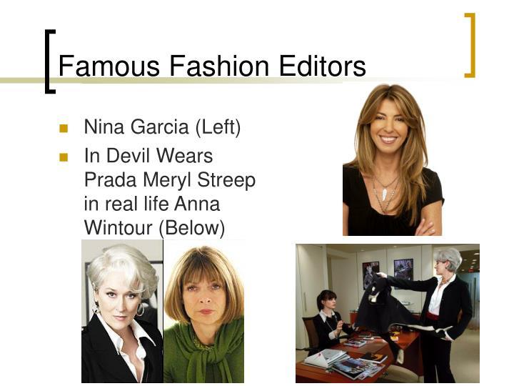 Famous Fashion Editors