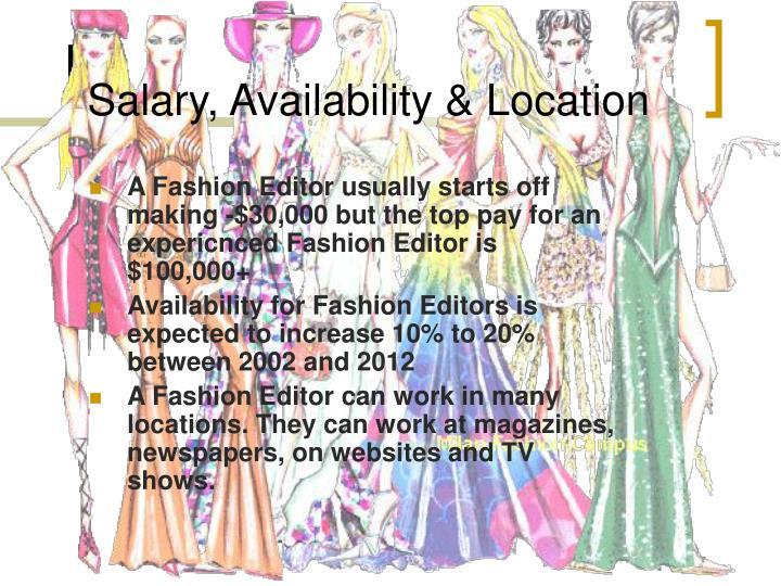 Salary, Availability & Location