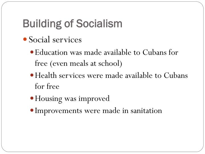 Building of Socialism