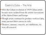castro s cuba the arts