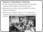 castro s education policies