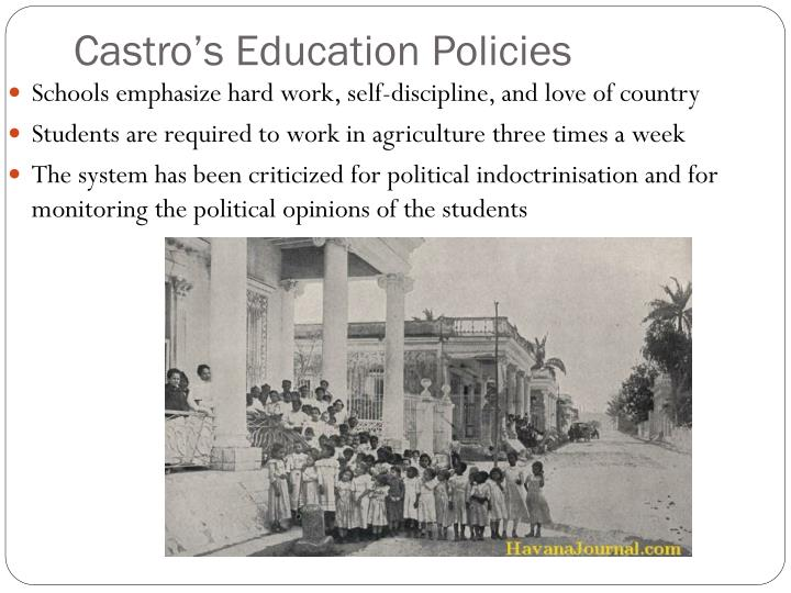 Castro's Education Policies