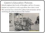 castro s education policies1