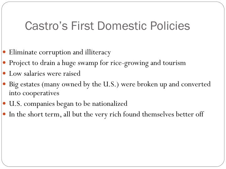 Castro's First Domestic Policies