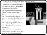 castro s treatment of minorities